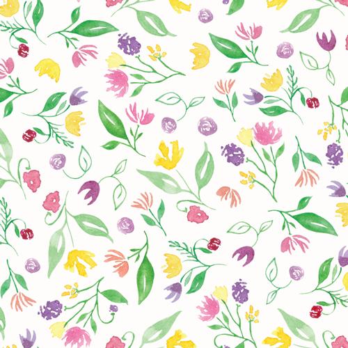 Happy Floral Pattern ©Amanda Gomes • delightedco.com