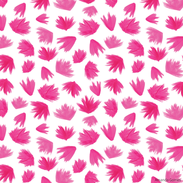 Pink Brush Swashes • Surface Pattern ©Amanda Gomes • delightedco.com