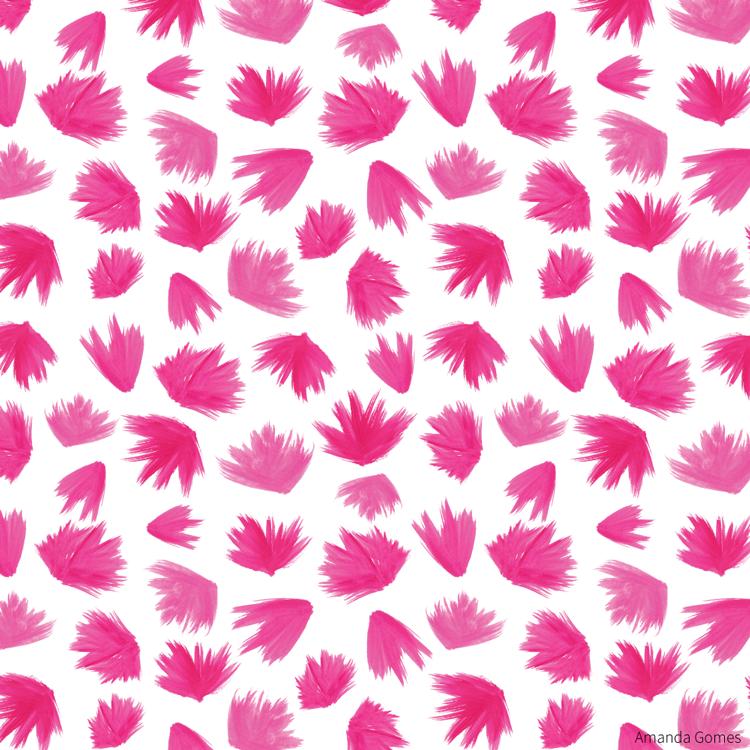 Pink Brush Swashes • Surface Pattern ©Amanda Gomes • delightedco.com