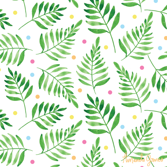 Confetti Leaves •Surface Pattern ©Amanda Gomes • delightedco.com
