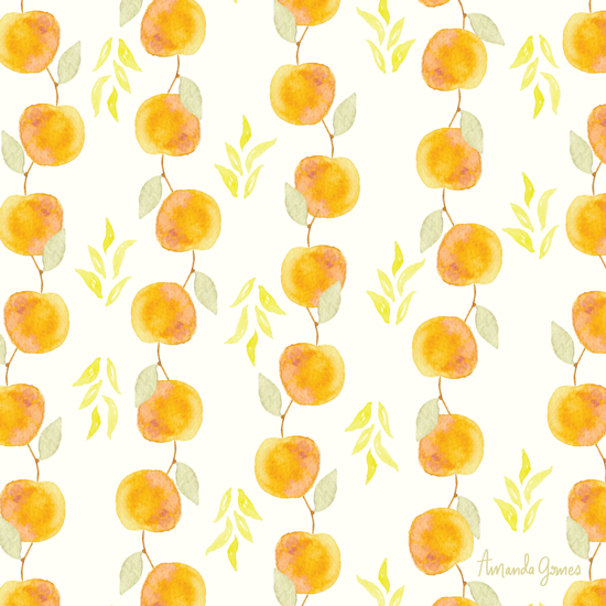 Yellow Plum Pattern by Amanda Gomes • delightedco.com