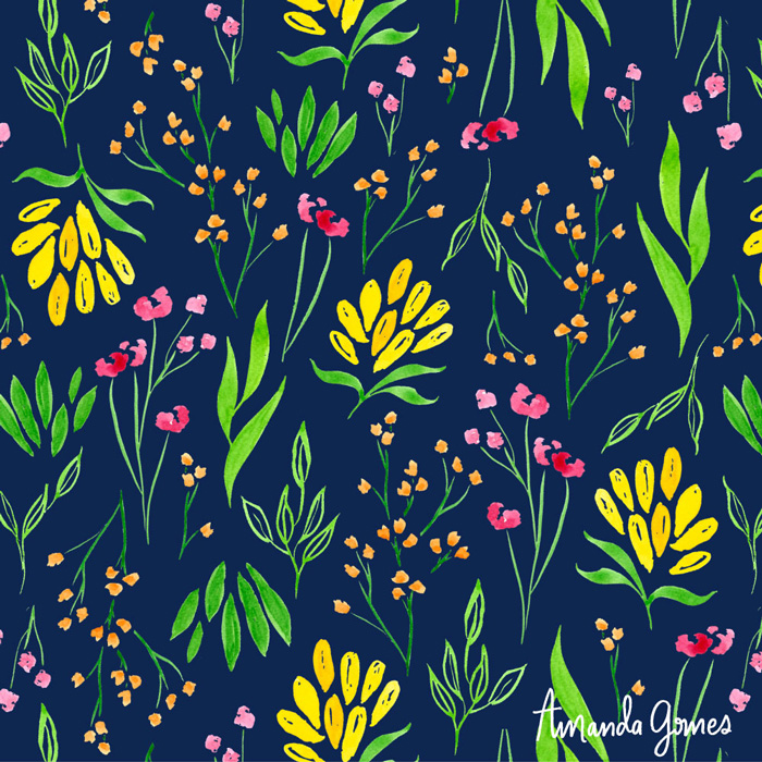 Floral Pattern ©Amanda Gomes • delightedco.com