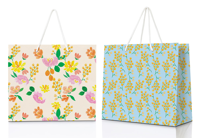 Amanda Gomes designer • Watercolor Pattern Gift Bag Mockup