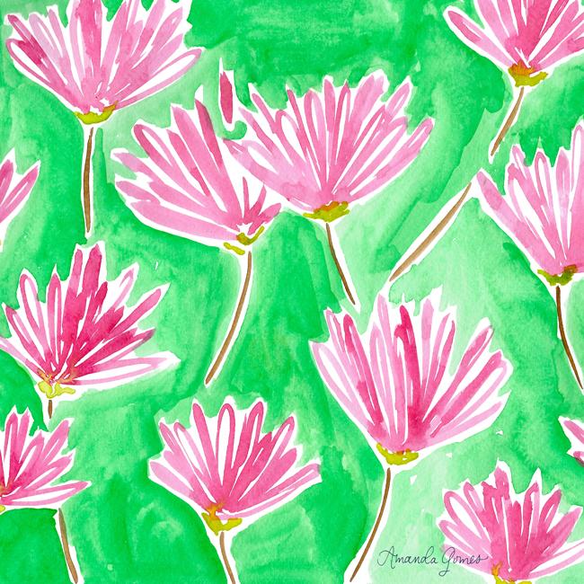 Amanda Gomes Watercolor Pattern • amandagomes.com