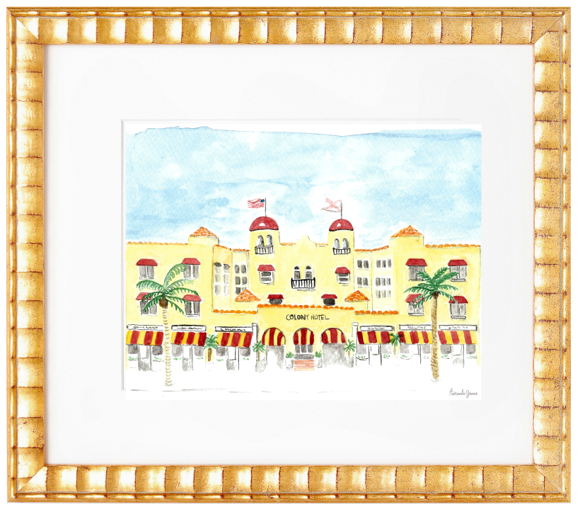 Amanda Gomes Illustration • Custom Watercolor Wedding Venue Painting