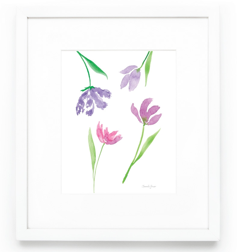 Amanda Gomes Watercolor Tulip Art Print