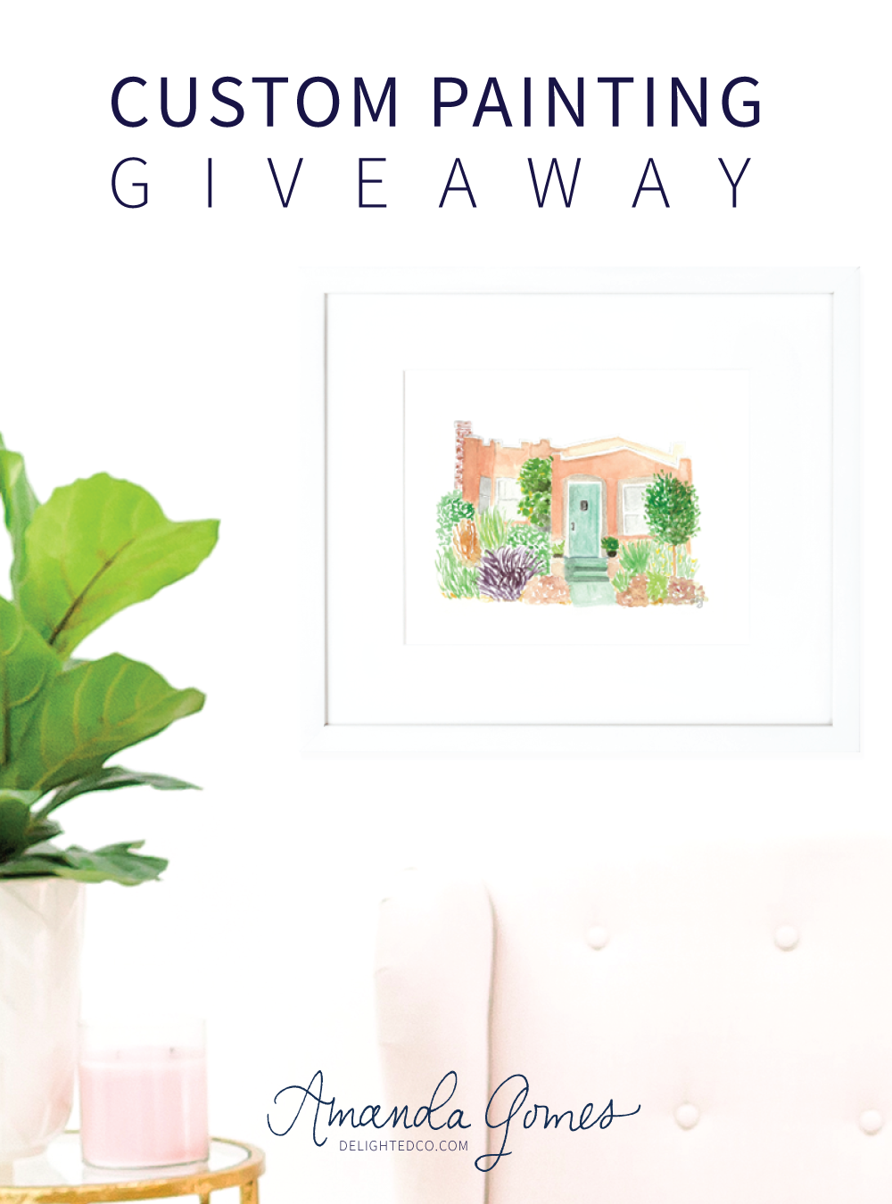 Amanda Gomes Art  • Custom Painting Giveaway