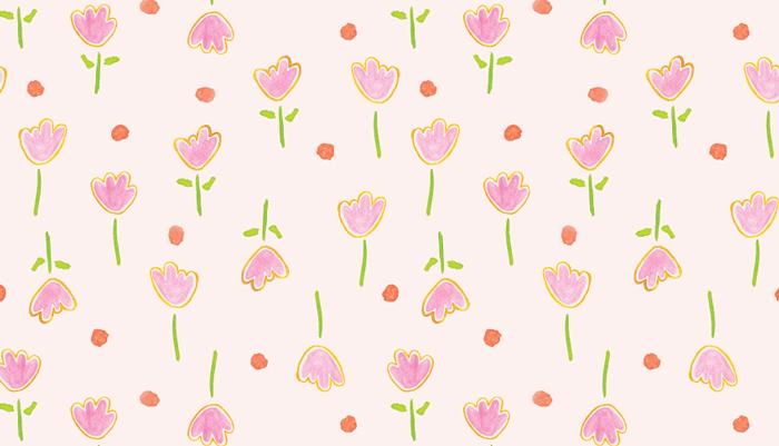 Amanda Gomes • Pink Floral Pattern • AmandaGomes.com