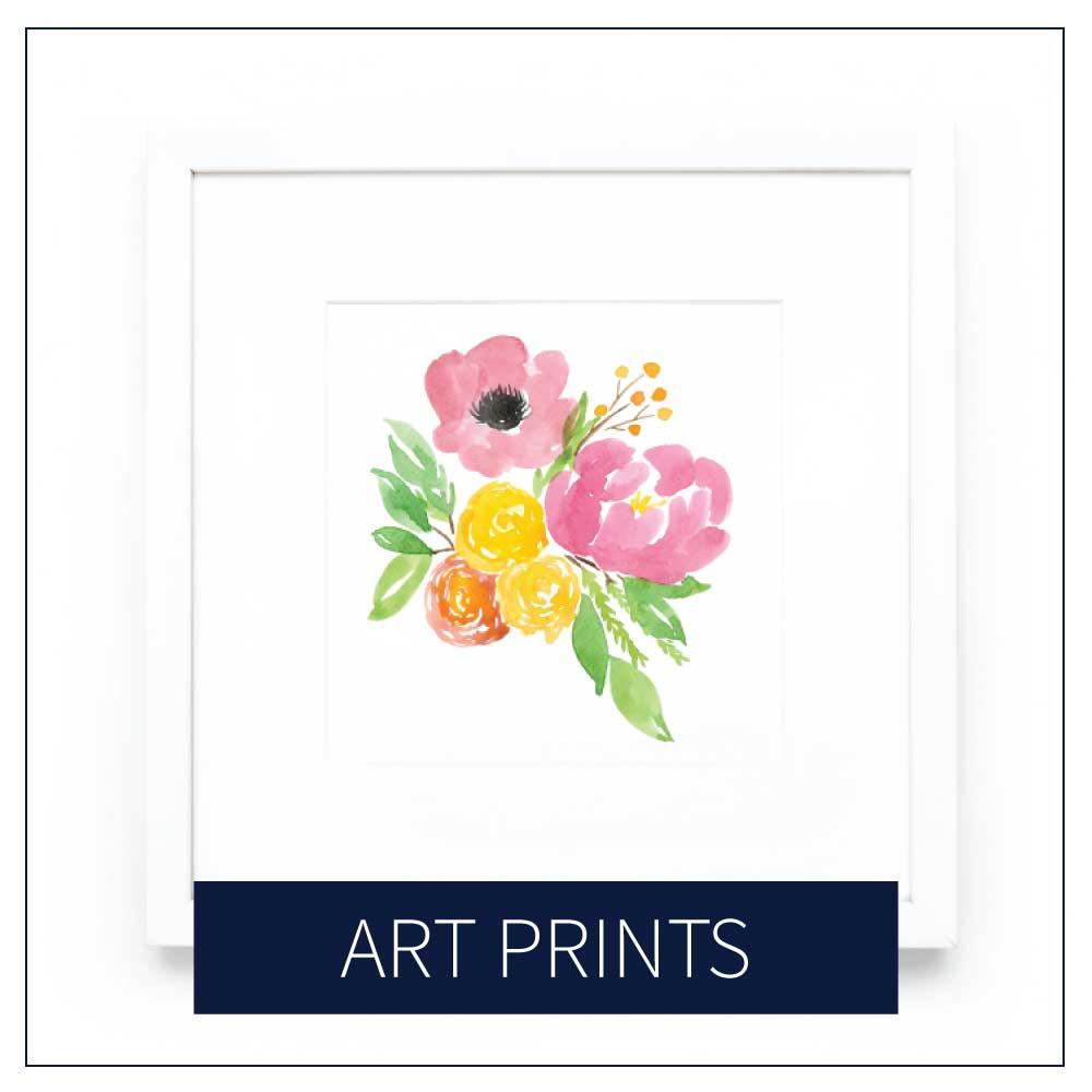 Shop Art Prints via Amanda Gomes Design