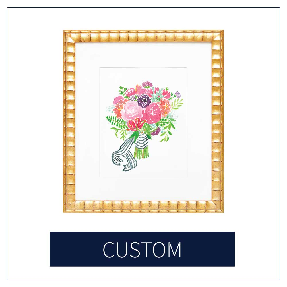 Shop Custom Art at Amanda Gomes Design • Wedding Bouquet Paintings, Watercolor Home Portraits, and more