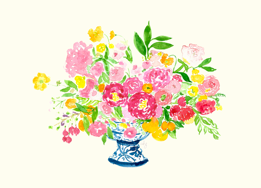 Amanda Gomes Floral Bouquet Tulipina Illustration • amandagomes.com