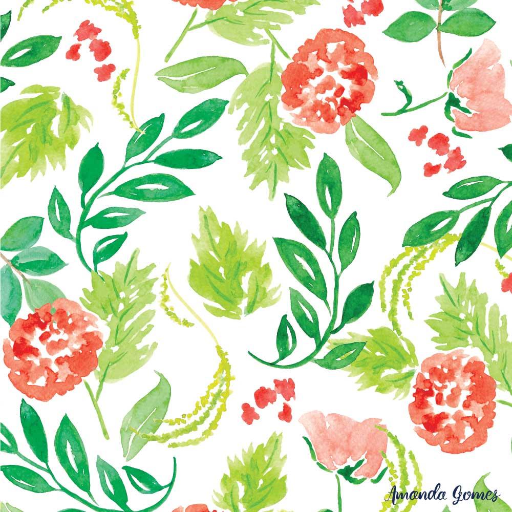 Amanda Gomes Floral Watercolors• amandagomes.com