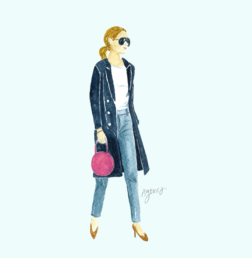Woman Watercolor Illustration by Amanda Gomes • inspired by Fashion Jackson • amandagomes.com