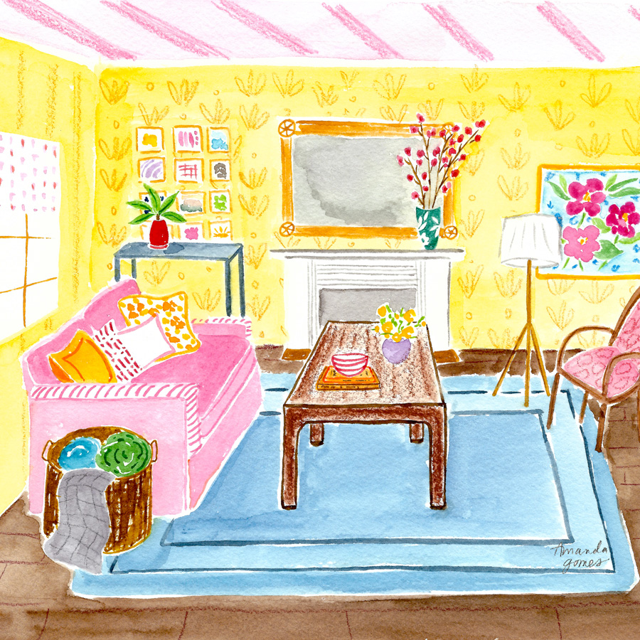 Amanda Gomes Watercolor Illustration • Interior Painting • amandagomes.com