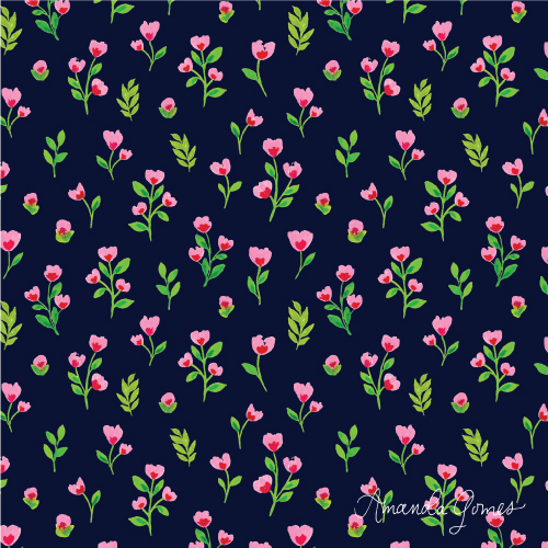 Amanda Gomes Surface Pattern Design #floralpattern #surfacepatterndesign #surfaceart #watercolorart #gouacheart