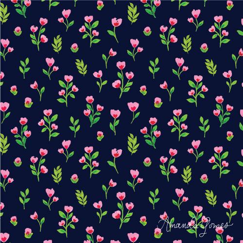 Amanda Gomes Surface Pattern Design #floralpattern #surfacepatterndesign #surfaceart #watercolorart #gouacheart