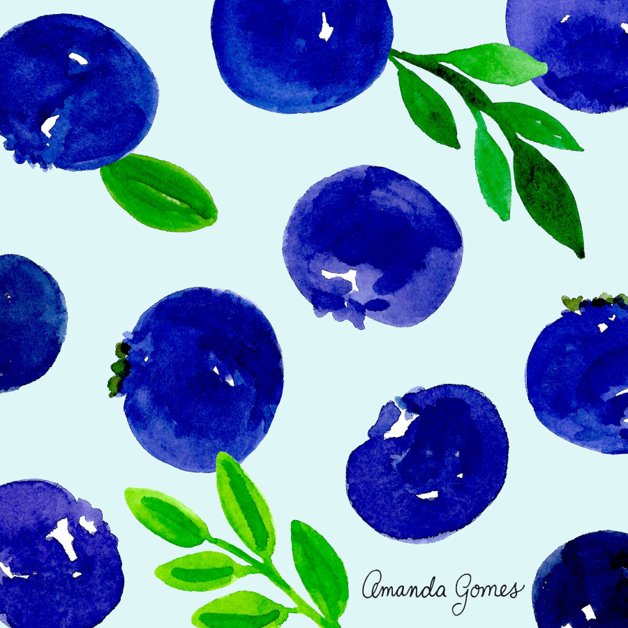 Amanda Gomes Surface Pattern Design #fruitillustration #illustration #bananaillustration #surfacepatterndesign #surfaceart #watercolor