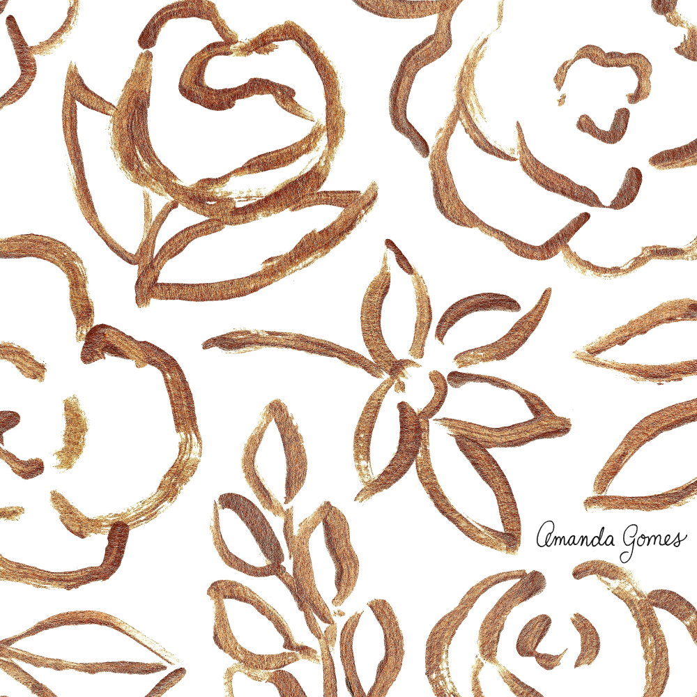 Amanda Gomes Surface Pattern Design #floralpattern #flowerillustration #surfacepatterndesign #surfaceart #acrylicsketch