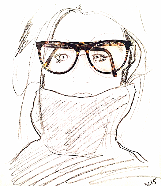 Charcoal (with my glasses)
