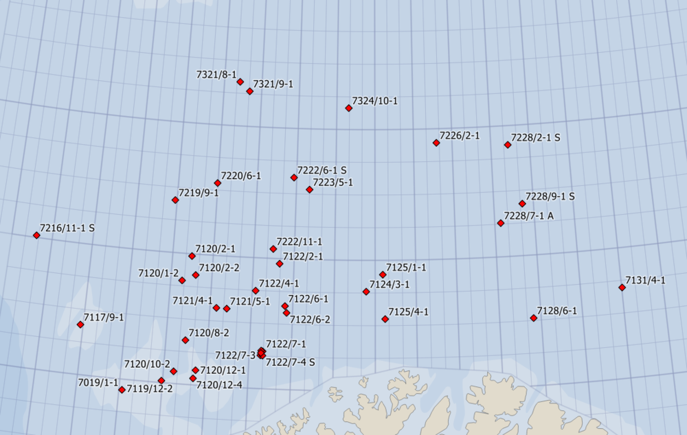 39 Barents Sea wells