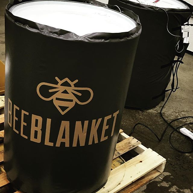 Woohoo!! After something like 20,542,564,000 pails weighing 60lbs each over the course of 6.5 years....we're moving to drums!  We believe in doing things the hard way and all but...we've paid our dues.  #venturi #beeblanket