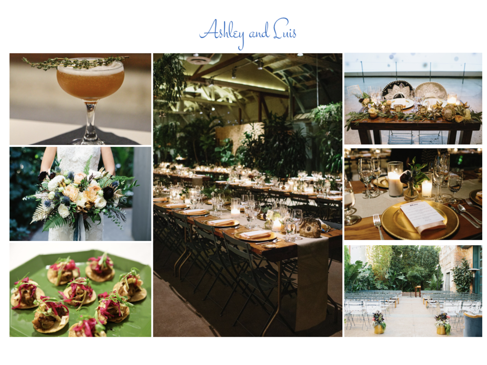ASHLEY AND LUIS   We had the privilege of sharing the day with Ashley and Luis at the Millwick downtown.  Alongside Orange Blossom Events, we created a spectacular plated dinner and dessert buffet.  Photos by Pie Shoppe.