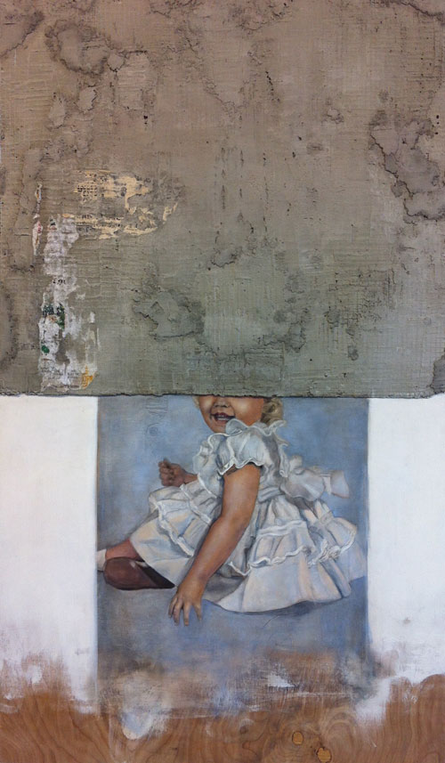 1957     Oil, gesso, and concrete on panel. 24x40 in  2013