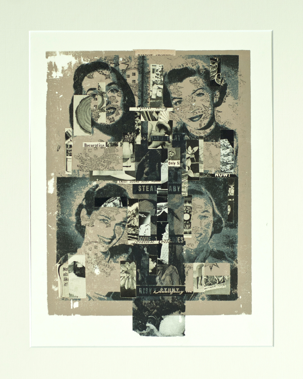 Window Shopping   2013  screen print, collage, transfer on paper.11x14 in.