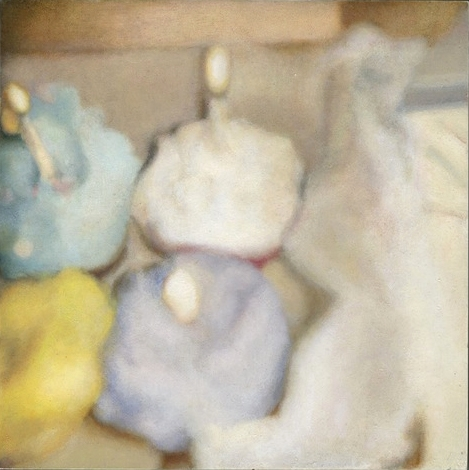 Unknown Error (Blurry Cupcakes)    Oil on panel. 6 x 6 in.  2014.