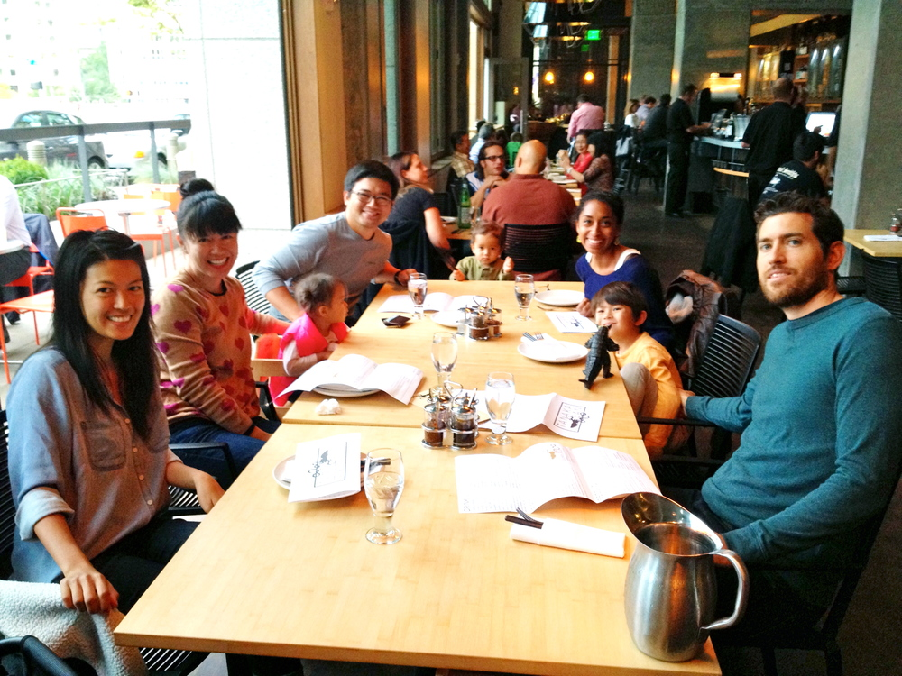 Family dinner at Tom Douglas's Asian-ish Tanaka San at the Assembly Hall.