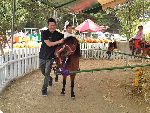 My first pony ride.  Giddy up, pony!