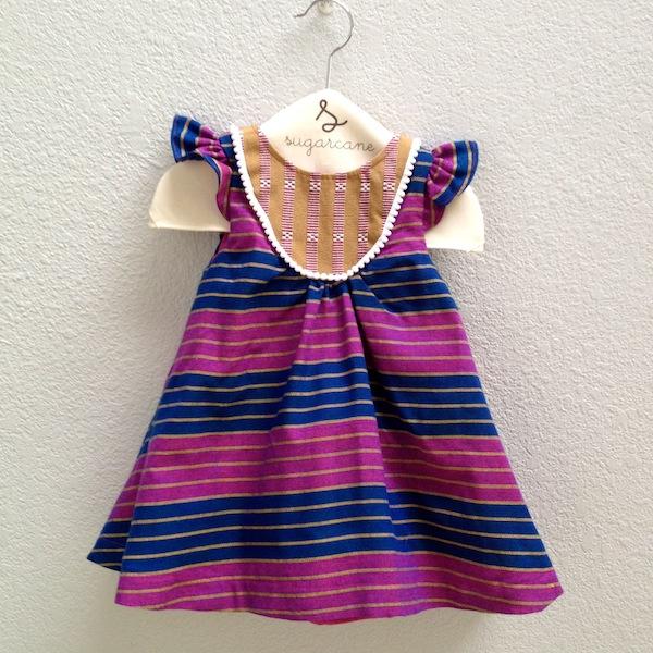 bib dress in purple