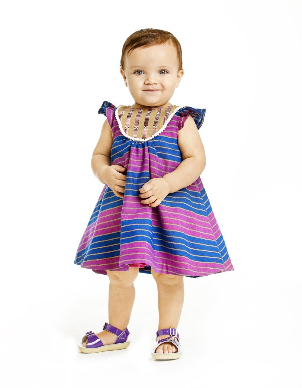 Sami in the blue bib dress