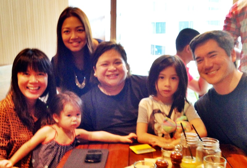 A photo finish lunch date with Tita Grace and Caitlin :) Thank you!!!