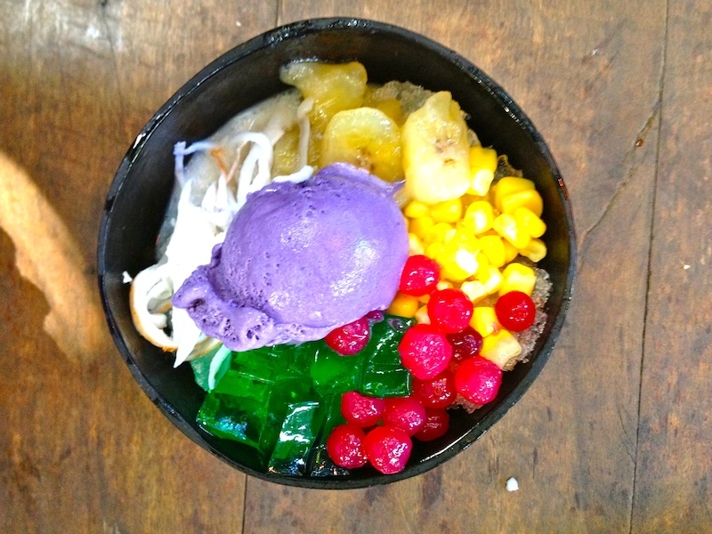 Ilocano halo-halo to finish the meal