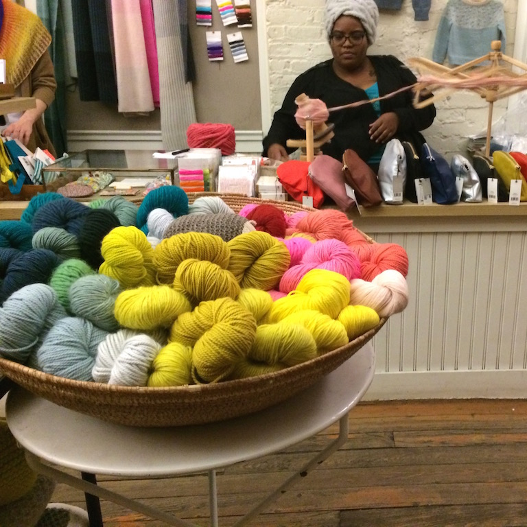 we made it to purl soho five minutes before closing!