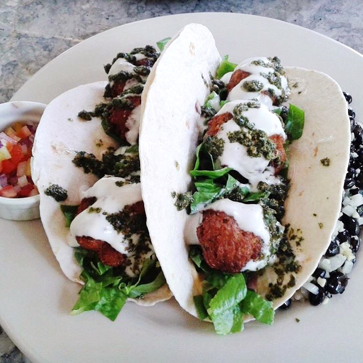 Falafel soft tacos