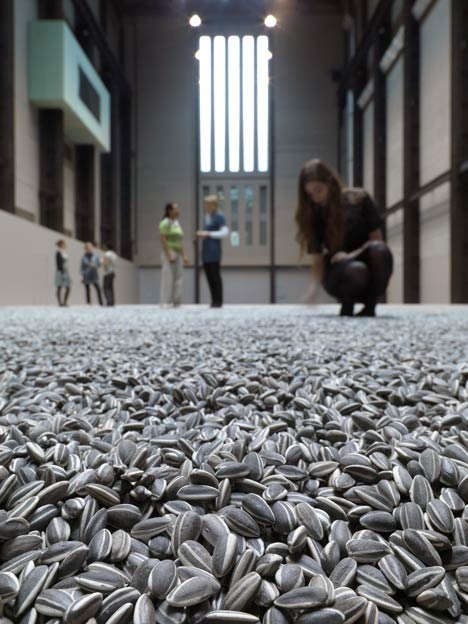 Ever seen 100 million porcelain sunflower seeds?   Then go to the Tate Modern to see Ai Weiwei's 100 million little morsels handmade over a 2 year period   …100 million
