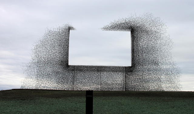 Lead Pencil Studio explores the intersection of architecture and installation art - this project, called Non Billboard, reminds me a little of the No Logo Flickr set that documents the erased billboards of Sao Paolo after Brazil's advertising ban…check it  here
