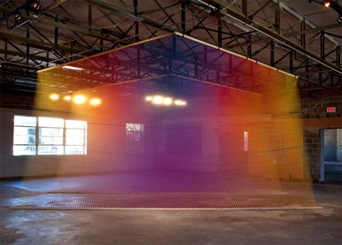 Gabriel Dawe makes amazing installations with string…
