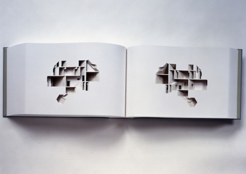 Famed Icelandic artist Olafur Eliasson's  Your House  is a  laser-cut negative impression of Eliasson's actual house; as you flip  through the pages, you get a tour of the house in cross section.