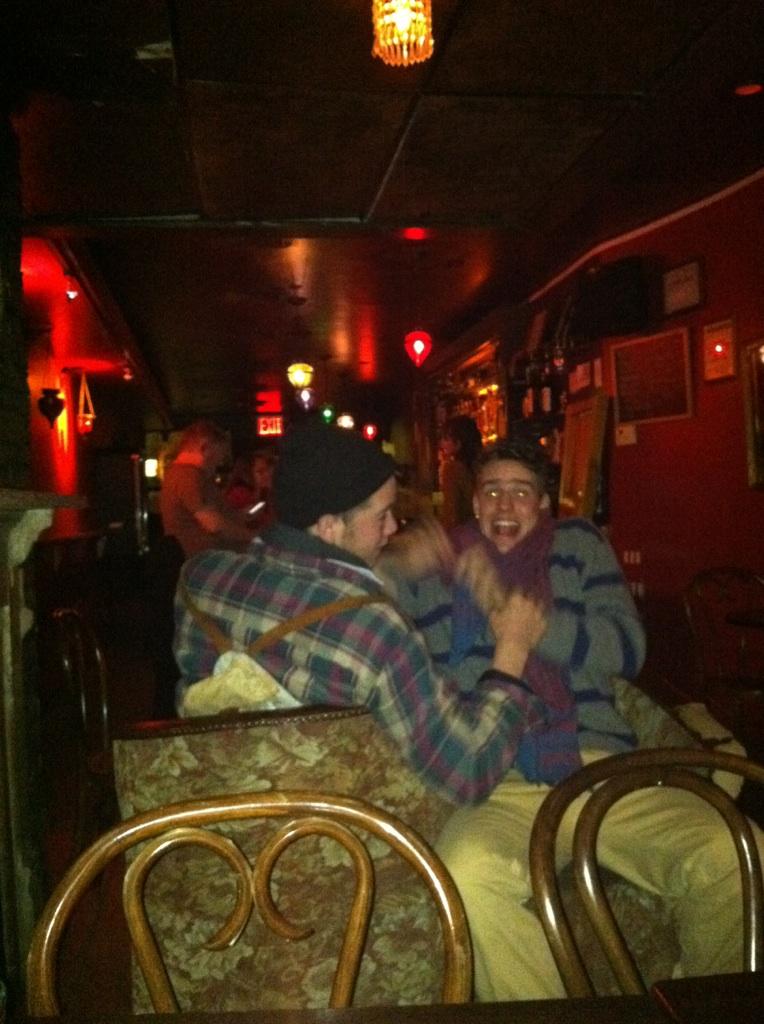 Erik and I found a weird double chair