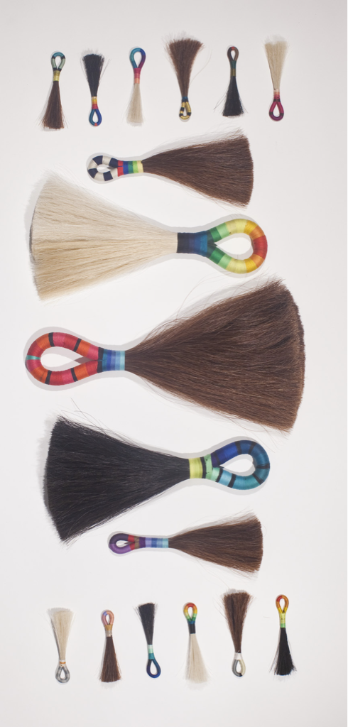 …horse hair tassels…