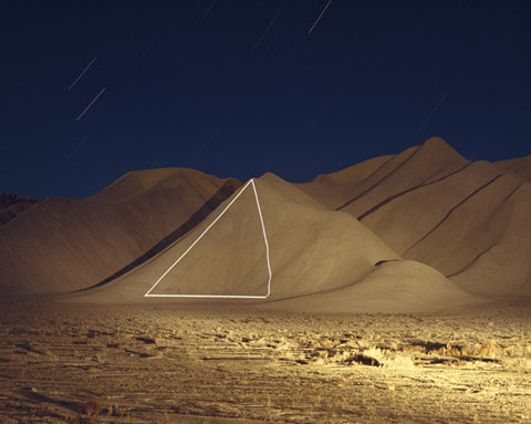 Jim Sanborn  does large scale light projections on mountains and stuff…pretty cool.