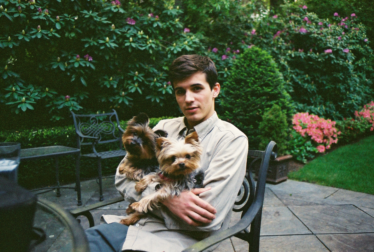 my lovely man jimmy and his lovely dogs