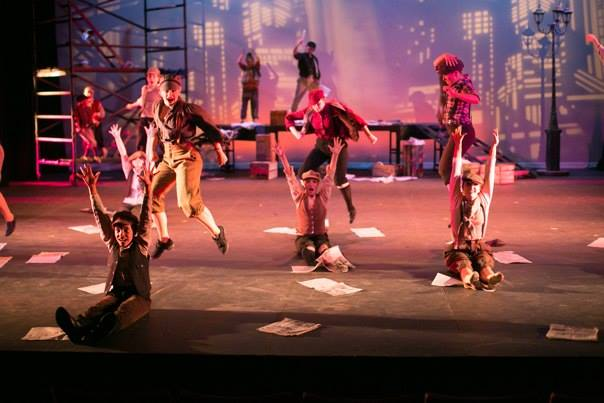 "Cast of ""NEWSIES"" from The Phipps Dance Theater production of ""The Phipps Celebrates Broadway"" 2014"