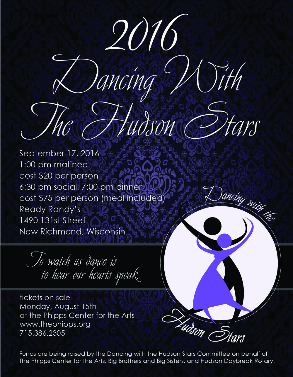 I am donating my time to choreograph for these two couples... consider a small donation to help raise money for these great non-profits in our community! Or better yet! Come to the event!