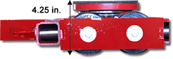 ST series equipment dolly side low profile height view