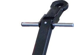 ST series equipment dolly reinforced handle and eye hook top view