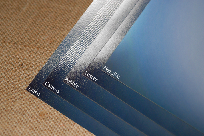 Examples of print options. Notice the canvas print is different than a canvas gallery wraps